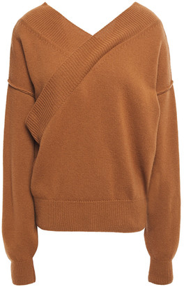 Each X Other Wrap-effect Merino Wool And Cashmere-blend Sweater