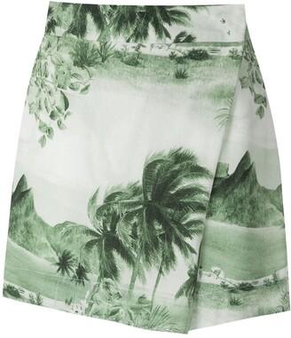 OSKLEN RJ print wrap shorts