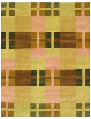 Landgraf World Menagerie One-of-a-Kind Hand-Knotted 8' x 10' Wool Green Area Rug World Menagerie