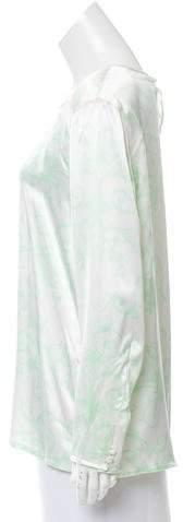 Escada Printed Silk Top