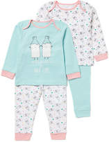 Tu clothing Blue 2 Pack Milk Buddies Pyjamas