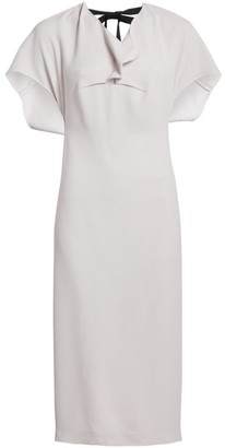 Roland Mouret Marianne Cape-Sleeve Midi Dress