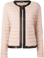 Mackage puffer jacket - women - Feather Down/Lamb Skin/Nylon/Spandex/Elastane - L