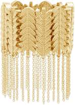 Steve Madden Gold Plated Leafy Branch Stretch Bracelet