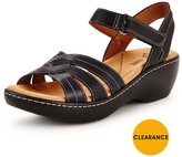 Clarks Delana Varro Low Wedge Sandal
