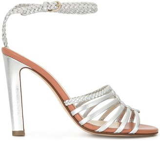 Francesco Russo Caged Heeled Sandals