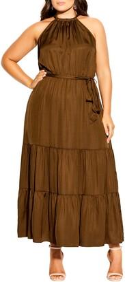 City Chic Tiered Maxi Dress