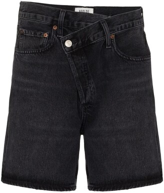 AGOLDE Wrap-Waist Denim Shorts