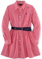 Ralph Lauren Girls 7-16 Collared Button-Down Dress