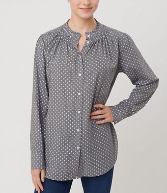 LOFT Dotted Ruffle Collar Shirt