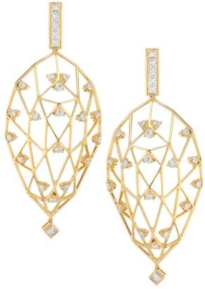 Hueb Stellar Diamond & 18K Yellow Gold Earrings