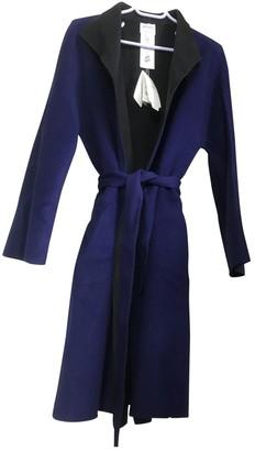 Giorgio Armani Blue Wool Coat for Women Vintage