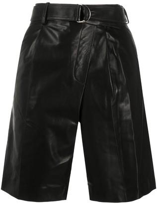 Helmut Lang Leather Wrap Shorts