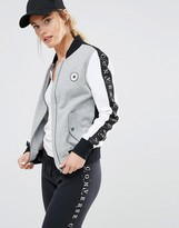 Converse Monochrome Bomber Jacket With Taped Seam