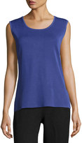 Misook Scoop-Neck KnitTank, Navy