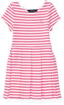 Ralph Lauren Striped Pleated Ponte Dress