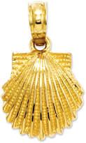 Macy's 14k Gold Charm, Scallop Shell Charm
