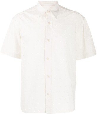AMI Paris Embroidered Short-Sleeve Shirt