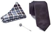 Ben Sherman Solid Tie, Pocket Square, & Lapel Pin Box Set