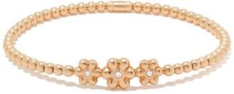Monan 18kt Rose Gold Diamond Floral Detail Bracelet