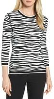 BOSS Women's Fatima Zebra Stripe Sweater