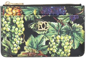 Dolce & Gabbana St Dauphine printed leather wallet