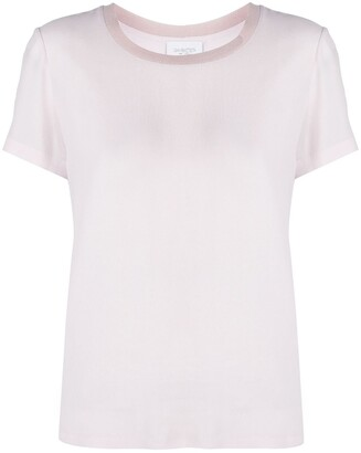 Giambattista Valli ribbed collar T-shirt