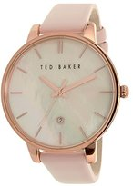 Ted Baker Women's 'Classic' Quartz Stainless Steel and Leather Dress Watch, Color:Pink (Model: 10026423)