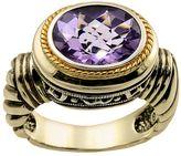 14k Gold Over Silver Amethyst Frame Ring