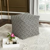 Safavieh Valentina Fret Ottoman in Black/White