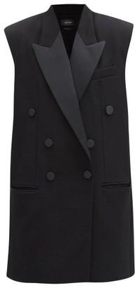 Isabel Marant Onyx Double-breasted Sleeveless Wool Blazer - Black
