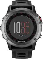 Garmin Unisex Digital Fenix 3 Sapphire Black Silicone Strap Smart Watch 30mm 010-01338-70