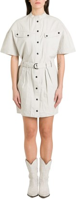 Etoile Isabel Marant Zolina Short Sleeves Cotton Dress With Patch Pockets