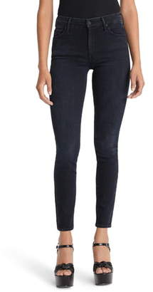 Mother The Looker Embroidered High Waist Skinny Jeans