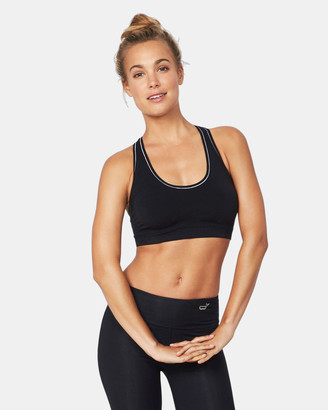 Boody Organic Bamboo Eco Wear - Women's Black Crop Tops - Racerback Sports Bra - Size One Size, S at The Iconic