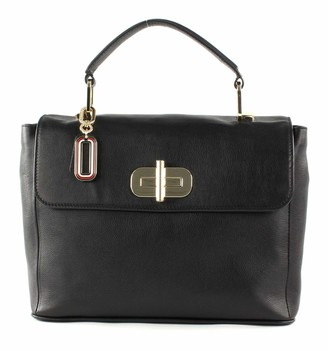 Tommy Hilfiger ELEVATED LEATHER SATCHEL Womens Cross-Body Bag
