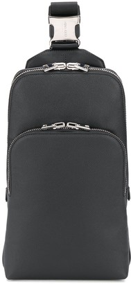 Tom Ford Grained-Effect One-Shoulder Backpack