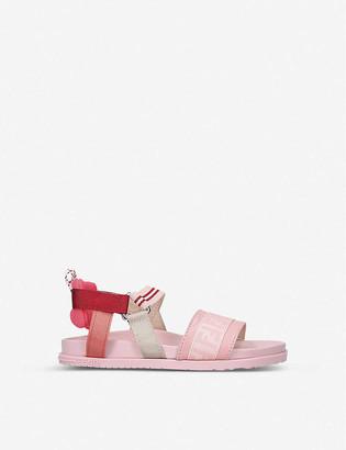 Fendi FF logo-print elasticated sandals 3-6 years