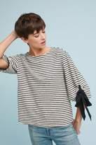 Eri + Ali Aune Tied Stripes Sweatshirt