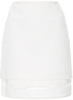 MSGM Embossed Cotton Jacquard Skirt