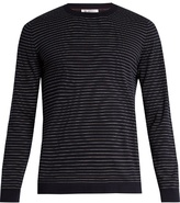 Brunello Cucinelli Striped Fine-knit Cotton Sweater