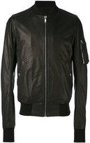 Rick Owens raglan bomber jacket - men - Cotton/Lamb Skin/Cupro/Virgin Wool - 48