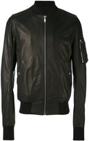 Rick Owens raglan bomber jacket - men - Cotton/Lamb Skin/Cupro/Virgin Wool - 52