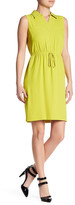 Ellen Tracy Sleeveless Jersey Shirtdress
