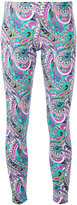 Etro abstract print leggings - women - Nylon/Spandex/Elastane - 42