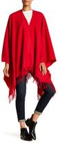 Moschino Fringed Wool Cape