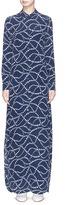 Equipment 'Brett Maxi' star print silk crepe shirt dress
