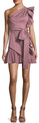 Alexis Adela One-Shoulder Ruffle Mini Dress