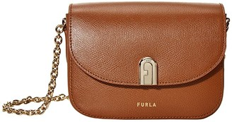 Furla 1927 Mini Crossbody 17 w/ Chain (Crema) Handbags