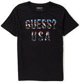 GUESS Short-Sleeve American Logo Graphic Crew T-Shirt